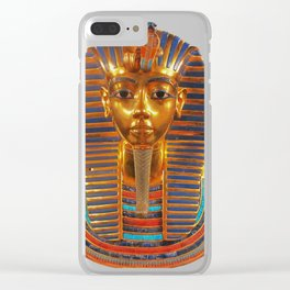 King Tut Egyptian Death Mask Clear iPhone Case