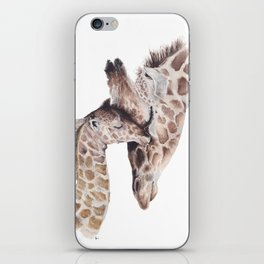 Giraffe and baby iPhone Skin
