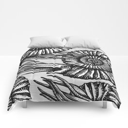 AMMONITE COLLECTION B&W Comforters