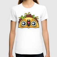 taco T-shirts featuring Excited Taco by Artistic Dyslexia