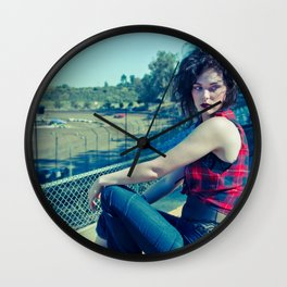 Race Track Raven Wall Clock
