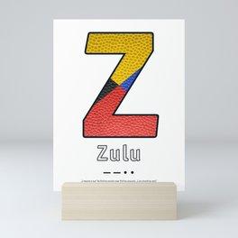 Zulu - Navy Code Mini Art Print