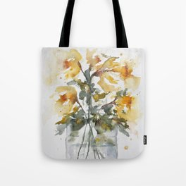 Essence of Daffodil in Watercolor Tote Bag