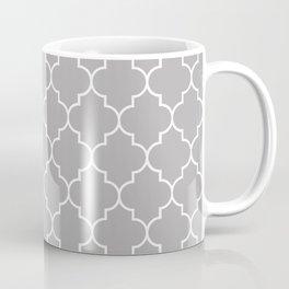 Moroccan Trellis, Latticework - Gray White Coffee Mug