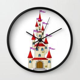 Fairytale Princess Castle Wall Clock