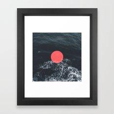 Ocean Circle Framed Art Print