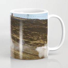Mountain, snow, wood, yellow, serra da estrela, inspiring, cold Coffee Mug