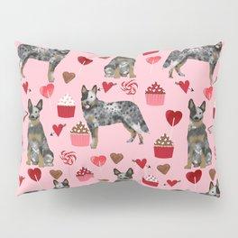 Australian Cattle Dog blue heeler valentines day cupcakes hearts love dog breed Pillow Sham