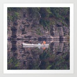 Fishing on the Delaware River - Debra Cortese photo art Art Print