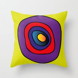 chaos of live,  movement of life, life circle, colorful, hartbeat Throw Pillow