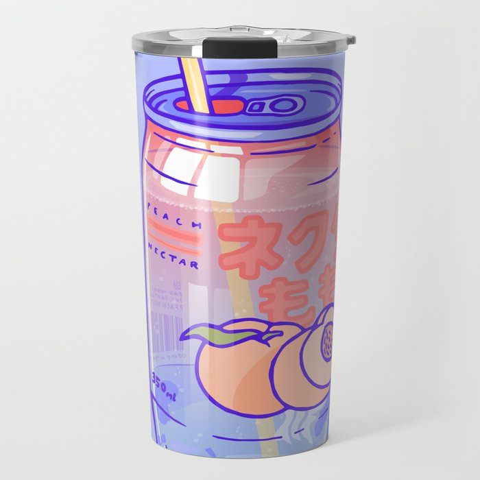 Peach Bubbles Travel Mug