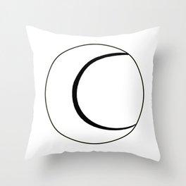 Tennis Bal Sketchl Over White Throw Pillow