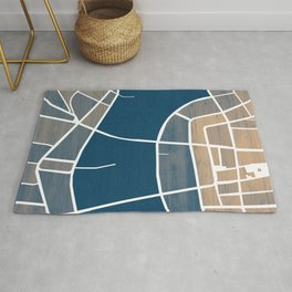 Luxembourg City Map Rug