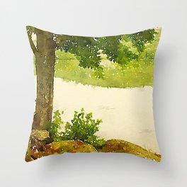 Camp Fairhaven, Maine Throw Pillow