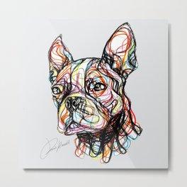 French Bulldog line style - bulldog francese - bouledogue français - bulldog francés Metal Print