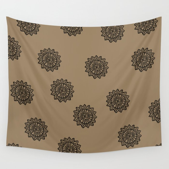 e467d8381 Aztec Sun Tribal Design 2 Wall Tapestry by mybloomingbook | Society6