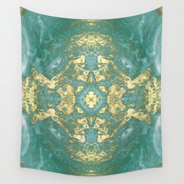 Blue Gold Wall Tapestry