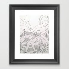 We part, to meet again Framed Art Print