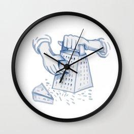 Handheld Cheese Grater Grating Watercolor Wall Clock