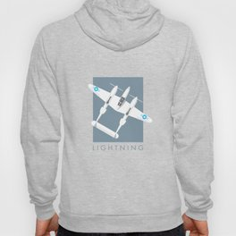 P-38 Lightning WWII Fighter Aircraft - Slate Hoody