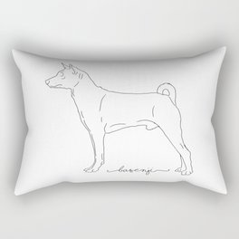 Basenji sketch Rectangular Pillow