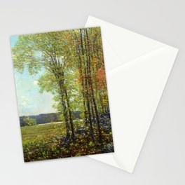 Classical Masterpiece 'Spring in Old Lyme, Connecticut' by Frederick Childe Hassam Stationery Cards