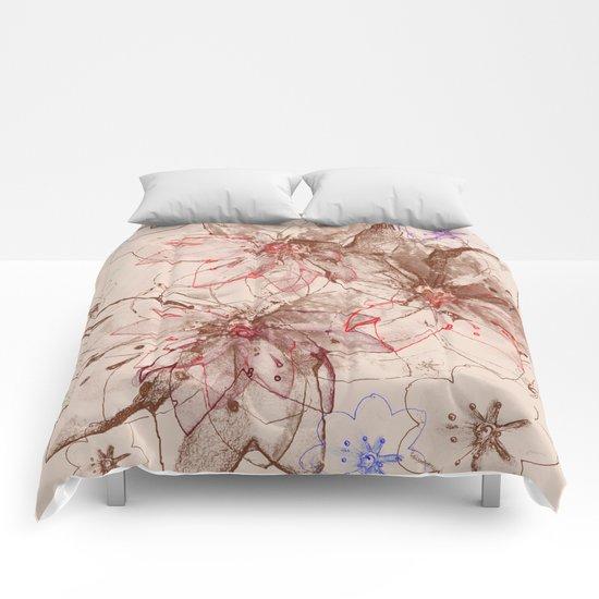 Whirlwind of petals(6). Comforters