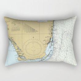Florida Atlantic Coast Map (1982) Rectangular Pillow