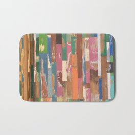 Maui Hawaii colorful fence art Bath Mat