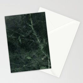 Dark Green Marble Texture Stone Stationery Cards