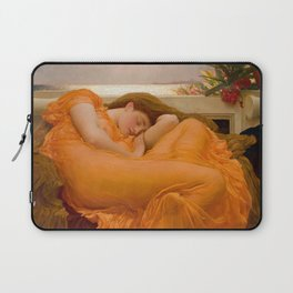 Flaming June Oil Painting by Frederic Lord Leighton Laptop Sleeve