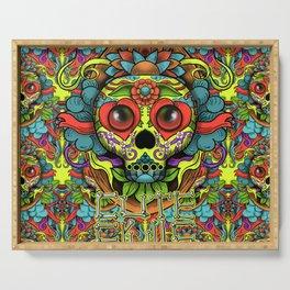 Cute Skull Dia de Los Muertos Serving Tray