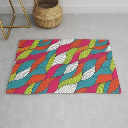 Colorful river Rug