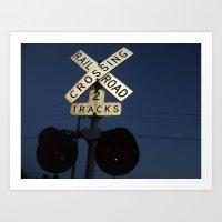 Watch for Locomotives Art Print