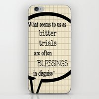 oscar wilde iPhone & iPod Skins featuring Oscar Wilde Thought Quote by Allyson
