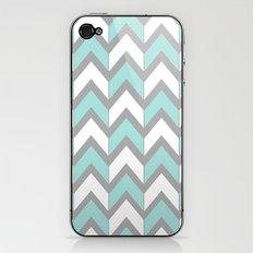 Minty Chevron iPhone & iPod Skin