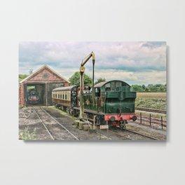 Manipulated Steam Train Image Metal Print
