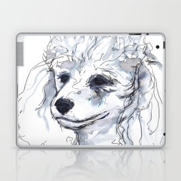 Poodle (portrait for my mom), watercolor Laptop & iPad Skin