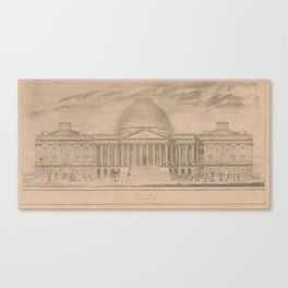 Vintage United States Capitol Building Illustration Canvas Print