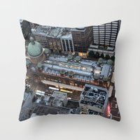 sydney Throw Pillows featuring Sydney  by Cynthia del Rio