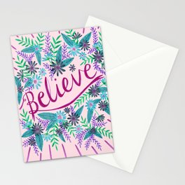 Believe! - Pink Stationery Cards