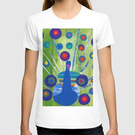 Polka dot peacock T-shirt