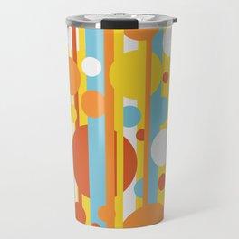 Stripes and circles color mode #2 Travel Mug