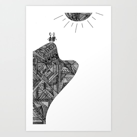 Creatures of the Mountain Art Print