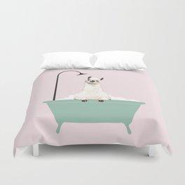 Llama Enjoying Bubble Bath Duvet Cover