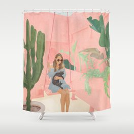 Enjoying the New Day Shower Curtain