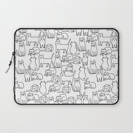 Funny sketchy white kitty cats Laptop Sleeve