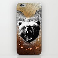 medicine iPhone & iPod Skins featuring Bear Medicine by Cree Thunder