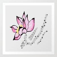 lotus Art Prints featuring Lotus by Vitta