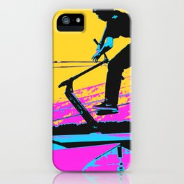 Free Falling - Stunt Scooter Rider iPhone Case